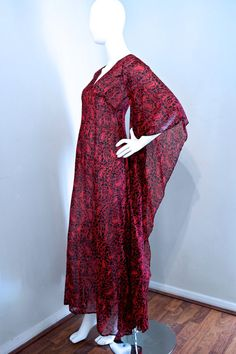 Incredible vtg 70s cotton gauze Thea Porter by VicAndBertieVintage