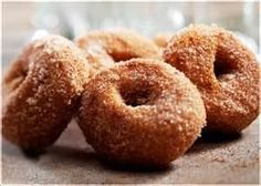 Homemade doughnuts are amazingly tender and delicious. The dough itself isn't terribly sweet, so the coating of sugar doesn't make them clo. Cinnamon Sugar Donuts, Apple Cider Donuts, Living Healthy With Chocolate, Paleo, Baked Doughnuts, High Calorie Meals, Sweet Recipes, Sweet Tooth, Sweet Treats