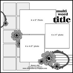 3 Photo layout - small squares are a great way to showcase favorite papers, or they could even be small pieces of other good photographs