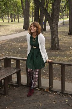 Jewel tones and patterned tights set the mood for a Fall fete!
