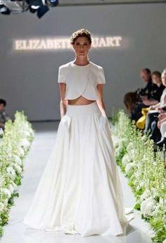 Vestidos de novia: Tendencias Otoño/Invierno 2014 - Elizabeth Stuart, vestido de novia con crop top