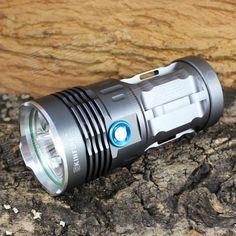 KINFIRE K50X 5-LED 2500lm 3-el modo de linterna blanca - Gray (4 x 18650)