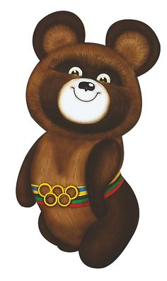 Mishka (little bear) is a mascot of the 1980 Summer Olympics in Moscow, Russia. Olympic Mascots, Olympic Games, Russian Culture, Russian Art, Soviet Art, Soviet Union, Fifa, Hammer And Sickle, Vs The World