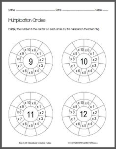 Operation Wheel Blanks for addition, subtraction or