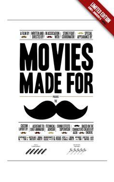 Excelentes carteles Movies made for the moustache por Jacob Enberg