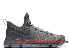 big sale 33fee c4ceb Nike Zoom KD 9 Chaussures Nike Basket Pas Cher Pour HOmme Battle Grey  843392-002