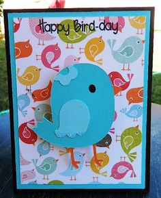Card made with Create a Critter cartridge and Joy's Life Stamps