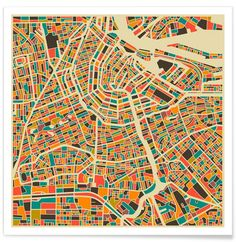 Amsterdam as Premium Poster by Jazzberry Blue | JUNIQE