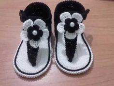 Sandalias de verano para bebé a Crochet - Parte 1 - YouTube