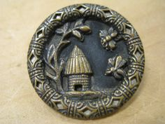 Antique Buttons, Bee keepers.... wow!!! never seen Any buttons like this one!!!!!!!!!