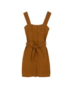 NURIA - Mini dress with bra-shape top - Spice brown Jeans Marron, Bodice, Rompers, Bra, Denim, Model, How To Wear, Chicken Coops, Collection
