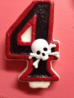 Pirate birthday candle by TheCraftyPair on Etsy (null)