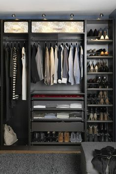 65 Good Man Closet Design Ideas To Easily Organize - Page 3 of 50 Wardrobe Room, Wardrobe Design Bedroom, Room Design Bedroom, Closet Bedroom, Bedroom Setup, Room Ideas Bedroom, Home Decor Bedroom, Walk In Closet Design, Closet Designs