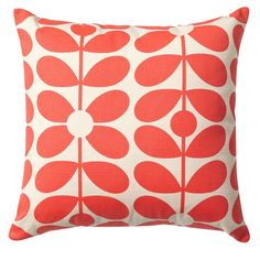 Orla Kiely Sixties Stem Cushion Red from www.illustratedliving.co.uk