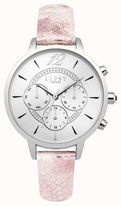 Authorised UK retailer for more than 150 brands of watches and jewellery. Five-star rated customer service with free UK delivery, finance and make us an offer service. Your trusted watch specialist. Affordable Watches, Lipsy, Pink Leather, Luxury Watches, Stainless Steel Case, Pretty In Pink, Fashion Brand, Watches For Men, Free Delivery