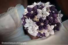 This is a listing for a large customized bridal bouquet of paper flowers. Please note the item pictured is not for sale, but rather meant for