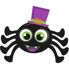 Halloween Spider scrapbook cut file cute clipart files for silhouette cricut pazzles free svgs free svg cuts cute cut filess dibujos clip art Dulceros Halloween, Adornos Halloween, Halloween Clipart, Halloween Designs, Halloween Painting, Halloween Stickers, Halloween Pictures, Halloween Cakes, Halloween Themes