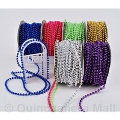 Quinceanera Mall - 4mm Round Beads Cord #RIB21
