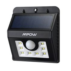 Improve security and visibility in your driveway, yard or garden with the Mpow Solar Powered LED Motion Sensor Light.