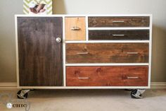 I've been obsessed with this dresser from west elm for ever! Now I'm going to make it myself!!!