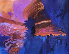 VK is the largest European social network with more than 100 million active users. Retro Futurism Art, Syd Mead, 70s Sci Fi Art, Landscape Concept, Wave Art, Retro Futuristic, Environment Concept Art, Looks Cool, Illustrators