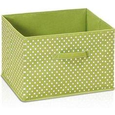 Furinno Laci Dot Design Non-Woven Fabric Soft Storage Organizer, 1-Pack, Green