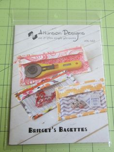 Pattern for Zippered Bags in 3 sizes Bag Pattern by EyeCandyQuilts, $7.25