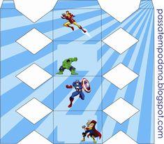 Passatempo da Ana: Kit - Os Vingadores Superhero Gifts, Cupcake Boxes, Hulk, Lanterns, Spiderman, Avengers, Birthdays, Printables, Templates