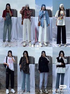 Korean Girl Fashion, Korean Fashion Trends, Korean Street Fashion, Ulzzang Fashion, Look Fashion, Fashion Mask, 70s Fashion, Winter Fashion, Fashion Tips
