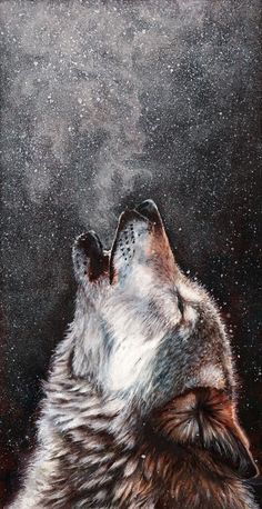 Every breath I take - Beautiful pastel painting of a howling wolf by Peter Williams Beautiful Wolves, Animals Beautiful, Wolf Painting, Painting Abstract, Wolf Wallpaper, Wolf Pictures, Wolf Spirit, Spirit Animal, Amazing Art