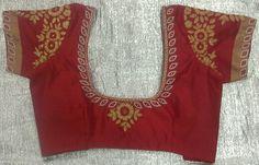 Chandheri blouse with zari work 7702919644