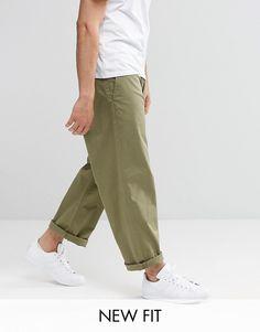 Image 1 - ASOS - Pantalon chino large - Kaki clair
