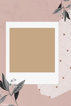 Blank collage photo frame template on pink background vector Marco Polaroid, Polaroid Frame Png, Polaroid Picture Frame, Polaroid Template, Collage Background, Flower Background Wallpaper, Flower Backgrounds, Vintage Backgrounds, Background Pictures