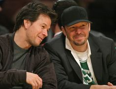 Mark Wahlberg & Donnie Wahlberg. Gotta love hansome brothers.
