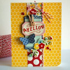 What a bright and fun design - definitely want to try this look on my next card.
