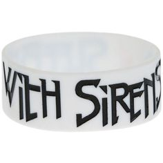 Best Bracelet 2017/ 2018 : Sleeping With Sirens Feel Rubber Bracelet | Hot Topic (200 UYU)  liked on Pol
