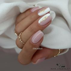 Homecoming Nails, Prom Nails, Long Nails, Nude Nails, White Nails, Colour Tip Nails, Nail Colors, Bridal Nails, Wedding Nails