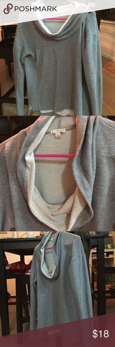 Grey Cowl neck sweatshirt Super comfy sweatshirt! Worn a handful of times. GAP Sweaters Crew & Scoop Necks