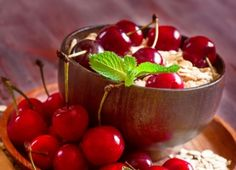 Cherries - Sprung, Red, Cherry, Yummy, Fruit, Dessert, Plate, Leaf Red, Red Fruit, Cherry Red