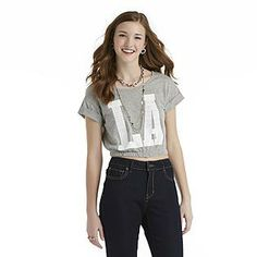 ef78441d1 Bongo- -Junior's Graphic Crop Top - LA Lavender Color, Junior Tops,  Turquoise
