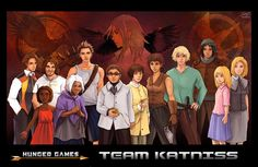 Hunger Games & Catching Fire characters: Very cool fan art.