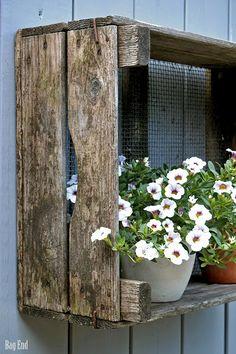 White petunia - on wall outside garage? Garden Trellis, Garden Gates, Garden Art, Home And Garden, Planter Box Plans, Outside Living, Farms Living, White Gardens, Garden Styles