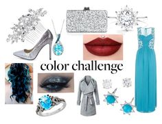 """Blue and Silver Holiday Extravaganza"" by directioner4life-101 ❤ liked on Polyvore featuring Boohoo, Dorothy Perkins, LE VIAN, Edie Parker, Jon Richard, Anzie and contest"