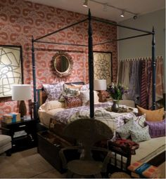 California Book Tour- Next up, Hollywood at Home in LA. Peter curated a great mix of vintage pillows and bedding from my collection in the shop.