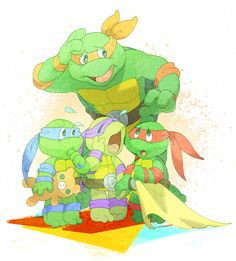 Adventures in Turtle Sitting by s-bis on deviantART <--- Anyone remember this episode? I love this one.