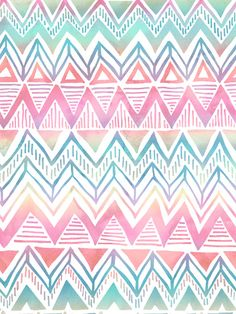 Lido Chevron Art Print by SchatziBrown #pastel #tribal #chevron