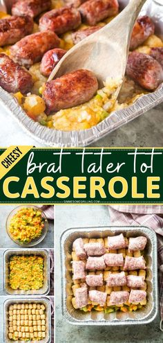 Brat Tater Tot Casserole is an easy comfort food recipe for dinner! It has layers of cheesy mixed vegetables that are topped with Tater Tots and Brats. Make this grilling recipe for an easy meal for weeknights! Tater Tot Casserole, Tater Tots, Easy Casserole Recipes, Easy Recipes, French Dip, Grilling Recipes, Quick Easy Meals, Dinner Recipes, Mixed Vegetables