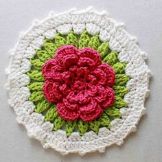 Picture of Floral Bouquet of Dishcloths Set 1 Crochet Pattern.  Maggie's