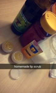 DIY: Homemade lip scrub