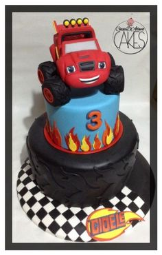 blaze monster truck cake : 13 cakes - CakesDecor